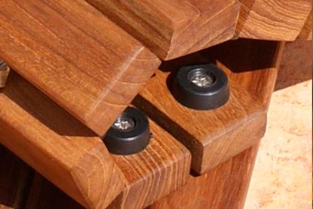 Alfombra de baño enrollable madera Teca - AsinoX