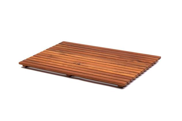 Tarima Teca Rígida plato de ducha rectangular