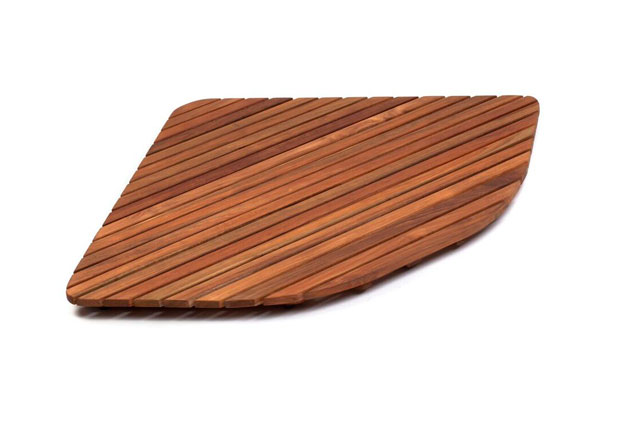 Tarimas de Teca rígidas, para plato de ducha ángular: 80x80 cm y 90x90 cm TEK3A6161 - TEK3A7171