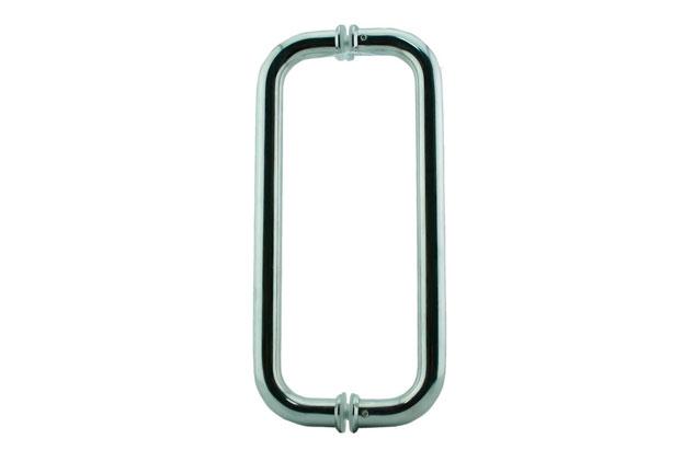 Tirador Inox doble para puertas cristal 601