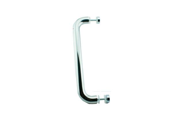 Tirador Inox sencillo para puertas cristal 601