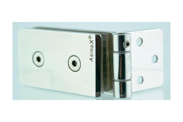 Bisagra Inox Vaivén 8-10 mm para vidrio 5268901-2