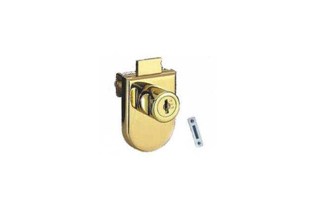 Cerradura vidrio, cromado, mate y dorado, 5-8mm y 8-12 mm (51408081-2-3 y 51408121-2-3)