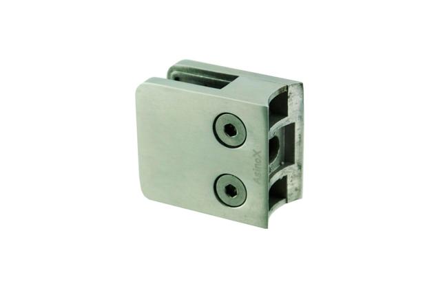 Pinza Inox AISI 316 cuadradad, asiento curvo, 45 mm, brillo y mate (Ref. 670260801-2)