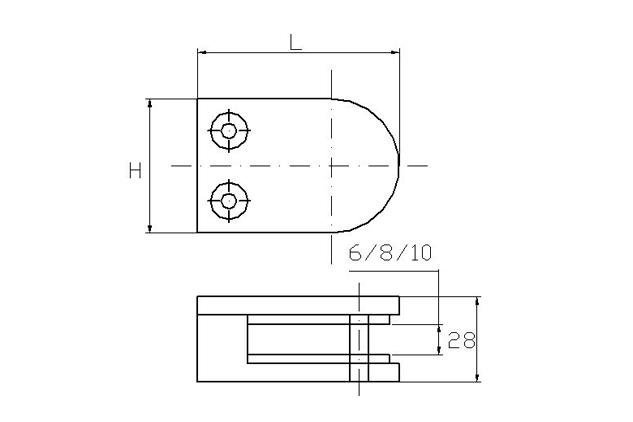 Pinza Inox asiento plano, 50 y 63mm, brillo y mate, 670200101-2 /670200201-2plano
