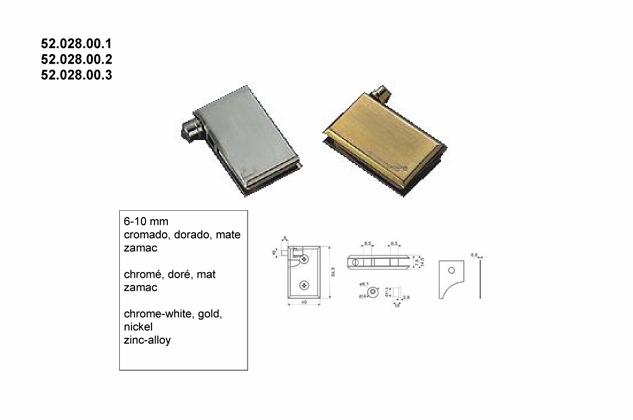 Soporte vitrina estantes 6-10mm (Ref.52028001-2-3)