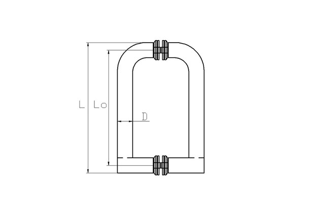 Tirador Inox doble Puerta Aluminio 605 plano