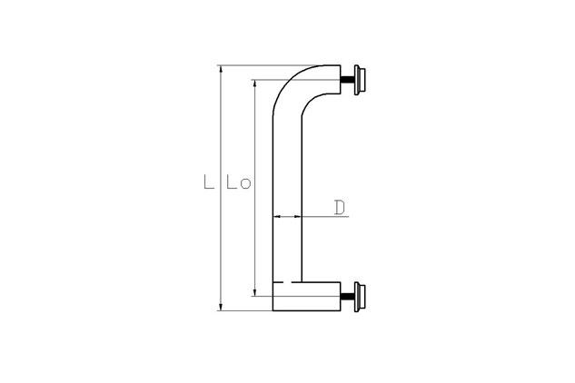 Tirador Inox sencillo Puerta Aluminio 605 plano