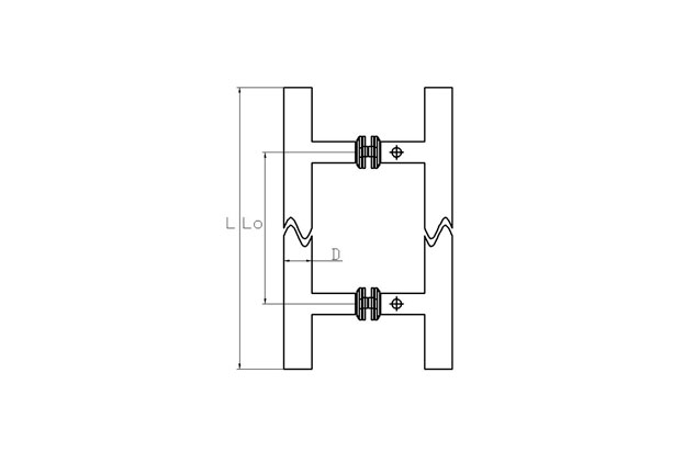 Tirador inox doble puerta cristal 611 plano
