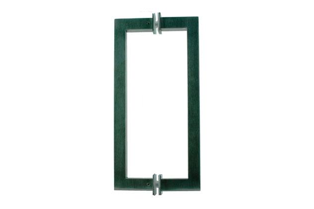 Tirador inox doble puerta vidrio 613