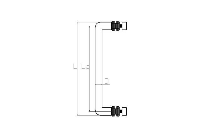 Tirador inox puerta aluminio sencillo 602 plano
