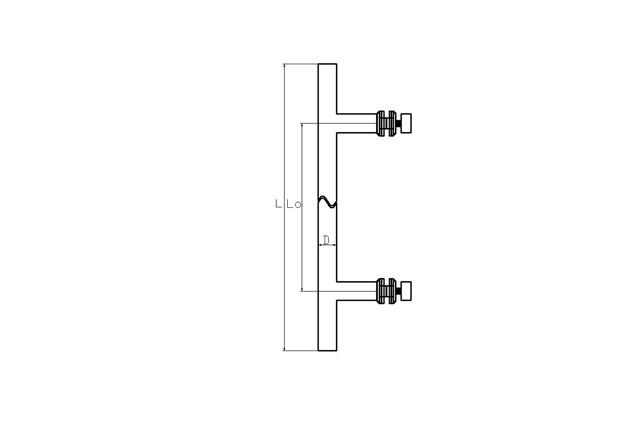 Tirador inox sencillo puerta cristal 611 plano