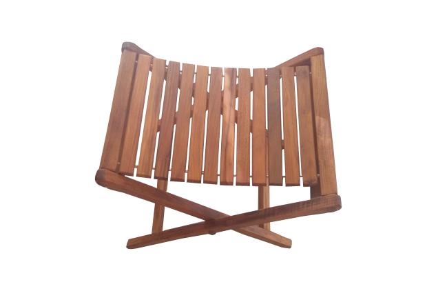 teak folding stool - AsinoX